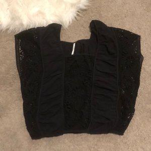 Black free people crochet blouse